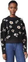 Rebecca Taylor Brushed Floral Pullover