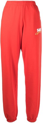 Sporty & Rich Tapered Cotton Track Pants