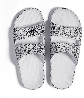 Freedom Moses Slippers White Splatter - 38/39 - 5/6 - W8/9