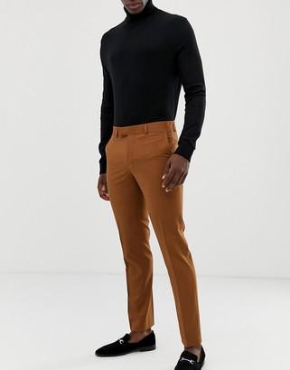 Farah Smart Farah Henderson skinny suit pants in tan