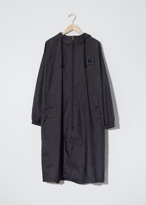 Acne Studios Unisex Ormes Plaque Face Technical Raincoat