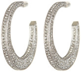 Nadri Pave Flat Crystal Hoop Earrings