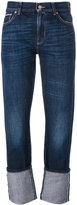 7 For All Mankind rolled hem jeans - women - Cotton - 24