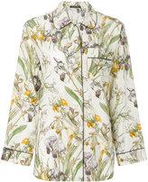 Alexander McQueen floral print pyjama shirt - women - Silk - 38