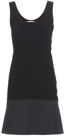 Victoria Beckham mytheresa.com exclusive two-tone crepe dress