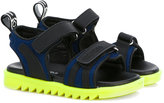 DSQUARED2 neon sole sandals - kids - Leather/Polyester/rubber - 34