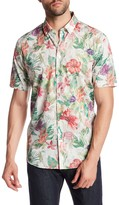 Lindbergh Floral Print Slim Fit Short Sleeve Shirt