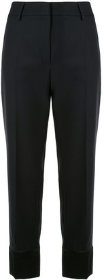 Cédric Charlier Wide-Cuff Straight Trousers
