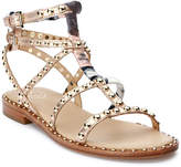 Ash Patchouli Studded Gladiator Flat Sandals