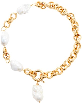 Timeless Pearly 24kt Gold-Plated Necklace With Pearls
