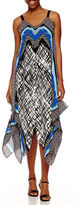 Ronni Nicole Handkerchief Print Maxi Dress