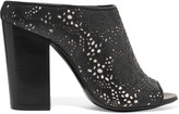 McQ by Alexander McQueen Alibi Lace laser-cut leather mules