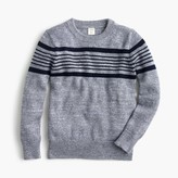 J.Crew Boys' striped cotton crewneck sweater