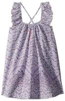 Seafolly Peacock Paisley Frill Dress Cover-Up Girl's Swimwear