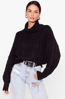 Nasty Gal Womens What's Knit Gonna Be Turtleneck Sweater - Black