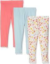 Mothercare Baby Girls' Pink Bird-3 Pack Leggings