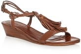 Bernardo Court Tassel Demi Wedge Sandals