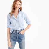 J.Crew Petite gingham cocktail shirt