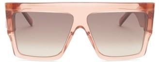 Celine Oversized Flat-top Acetate Sunglasses - Light Brown