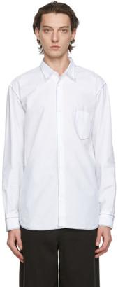 Comme des Garçons Homme White Contrast Stitch Shirt