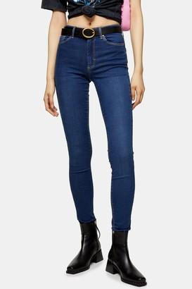 Topshop Womens Tall Indigo Leigh Skinny Jeans - Indigo
