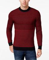 Alfani Men's Contrast Multi-Stitch Knit Sweater, Regular Fit