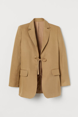 H&M Linen-blend Jacket - Beige