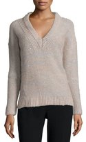 Peserico Melange Sparkled V-Neck Sweater