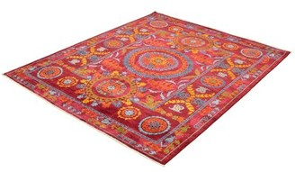 """Ecarpetgallery Hand-Knotted Signature Collection Burgundy Wool Rug 8'3"""" X 10'3"""