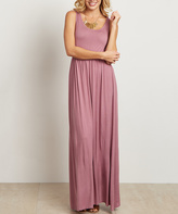 Mauve Sleeveless Maxi Dress