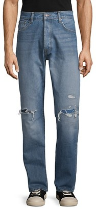 7 For All Mankind Vintage Straight-Fit Distressed Jeans