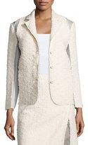 Nina Ricci Textured Combo Jacket, Silk White