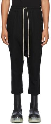 Rick Owens Black Wool Drawstring Classic Trousers