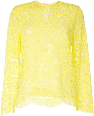 Marques Almeida Long Sleeved Lace Top