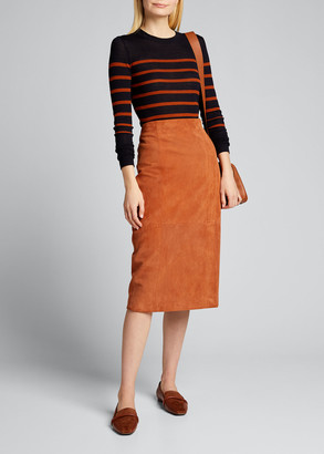 Jason Wu Suede Pencil Skirt