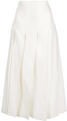 Jil Sander A-line pleated skirt