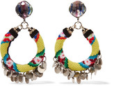 Dannijo Ipyana Woven, Oxidized Silver-plated And Swarovski Crystal Earrings - one size