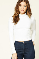 Forever 21 FOREVER 21+ Cropped Knit Turtleneck
