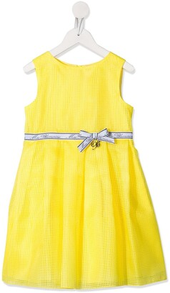 Miss Blumarine Mesh Style Bow Detail Dress