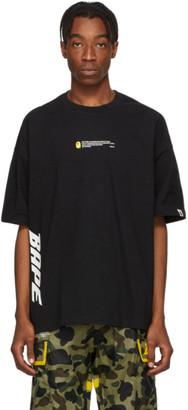 BAPE Black Logo In Transit 3/4 T-Shirt
