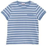Il Gufo Blue and White Stripe Tee