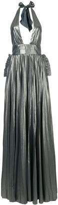 Maria Lucia Hohan halterneck pleated design gown