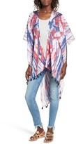 David & Young Women's Tie Dye Ruana