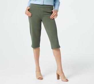 Denim & Co. Comfy Knit Smooth Waist Skimmer Shorts