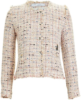 IRO Kiki Boucle Collarless Jacket