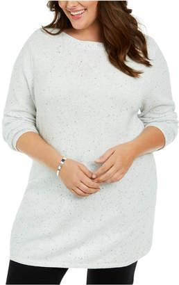 Karen Scott Plus Size Curved Hem Tunic