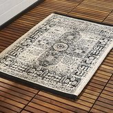 CB2 Sadie Black Bath Rug