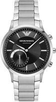 Emporio Armani Men's Renato Hybrid Stainless Steel Bracelet Smart Watch 43mm ART3000