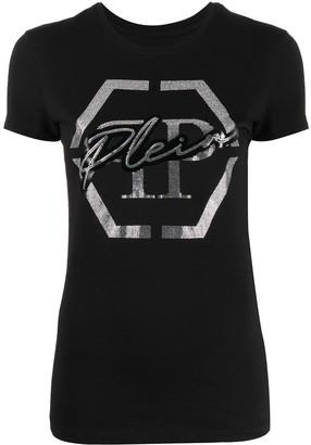 Philipp Plein rhinestone-embellished logo T-shirt