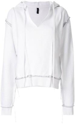 Unravel Project v-neck plain hoodie